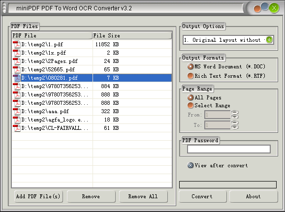 mini pdf to docx ocr converter convert image scanned pdfs to editable word documents