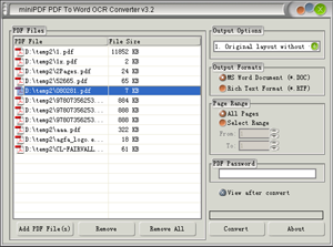 mini PDF to Plain Text OCR Converter