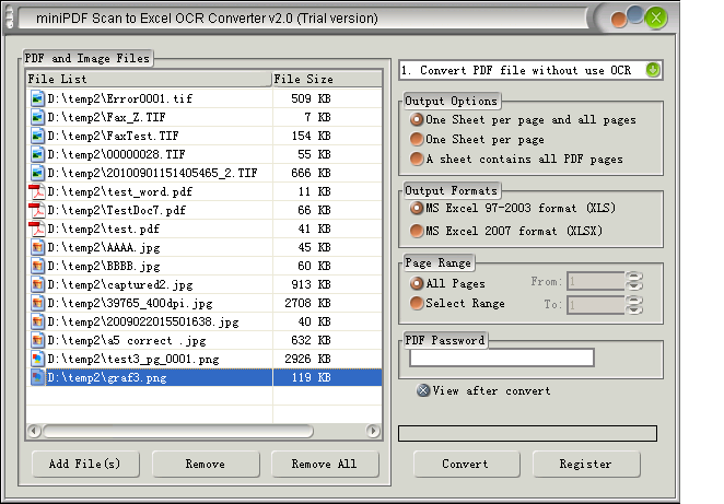 PCX to Text OCR Converter