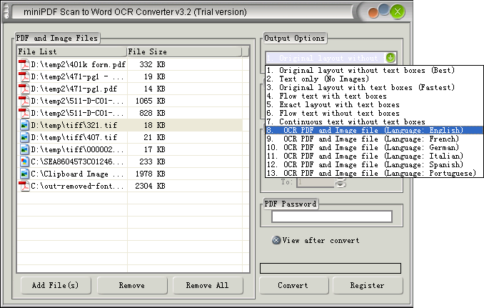 miniPDF Scan to Editable Document Converter