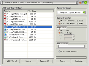 Scan to RTF OCR Converter